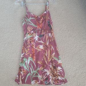 Express mixed floral print mini dress